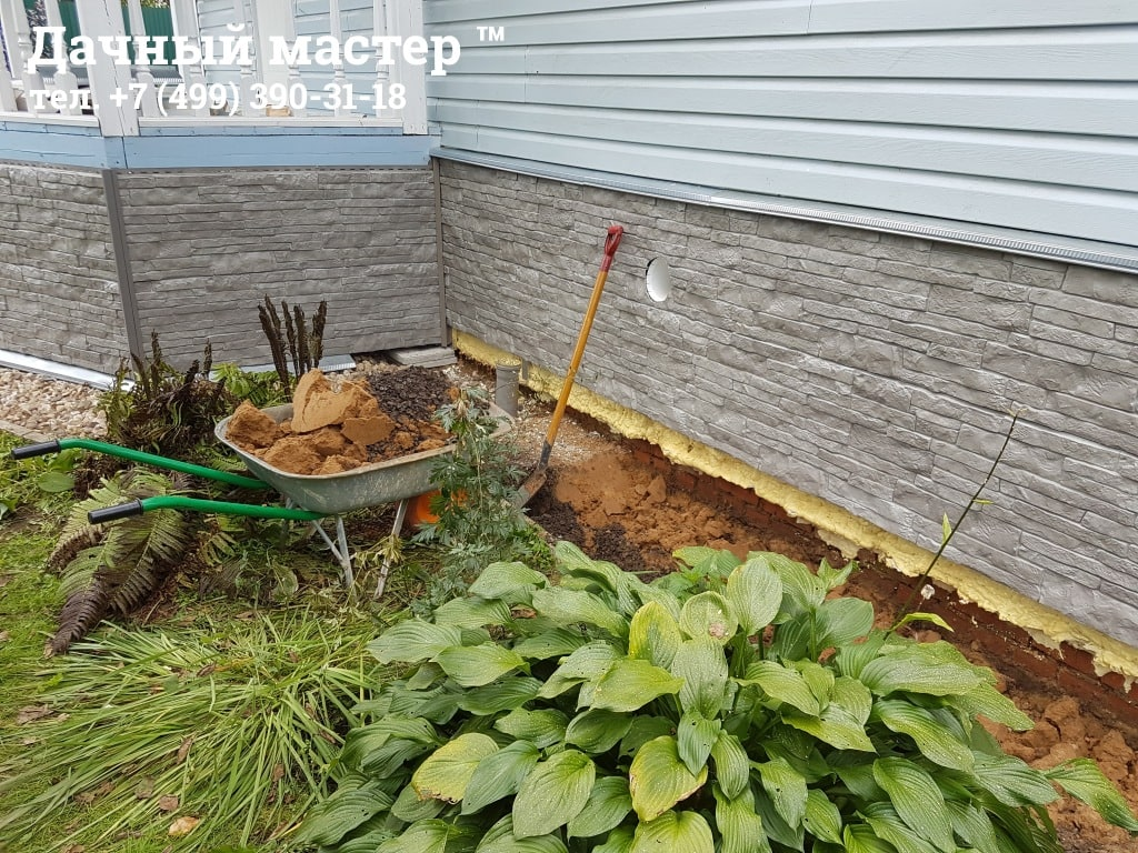 Как сделать отмостку в загородном доме