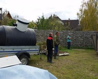 Доставка буферной емкости на участок Заказчика