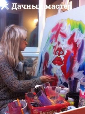Процесс рисования картины