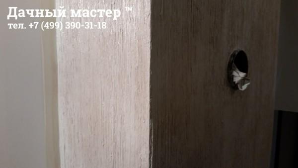 Короб дымохода, отделанный венецианской штукатуркой