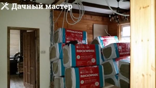 Утеплитель Роквул для монтажа по внутреннем периметру наружных стен дома