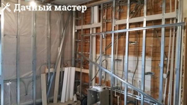 Монтаж металлического каркаса под гипсокартон