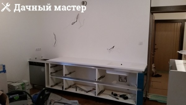 Монтаж кухонного гарнтитура