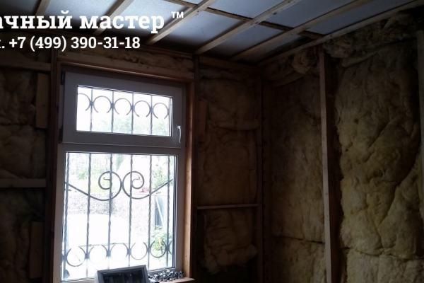 Утеплитель в стенах после демонтажа обшивки