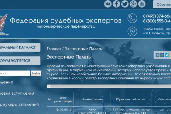 Сайт федерации судебных экспертов