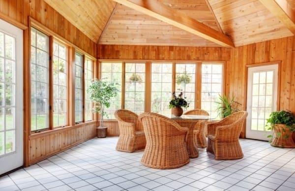 Каркасный деревянный дом в стиле кантри