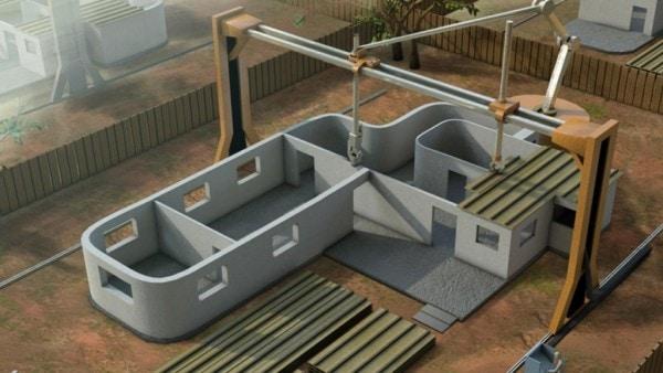 Печать дачных домов на 3D принтере