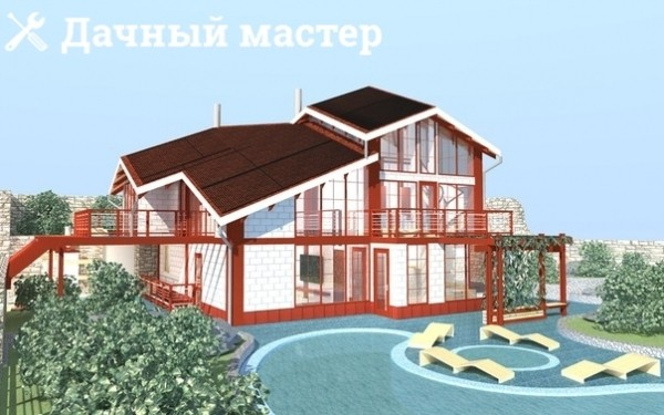 3D модель загородного дачного дома