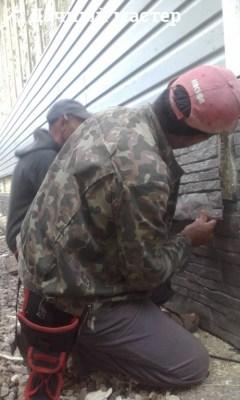 Монтаж цокольной панели