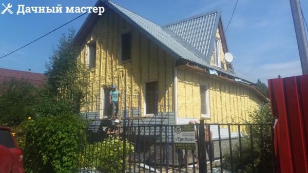 Дом после утепления напыляемым пенополиуретаном
