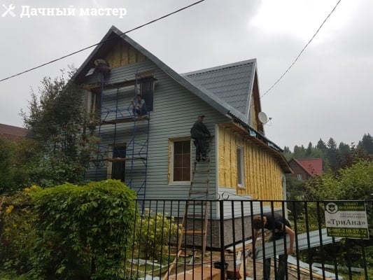 Монтаж сайдинга на фасад дома
