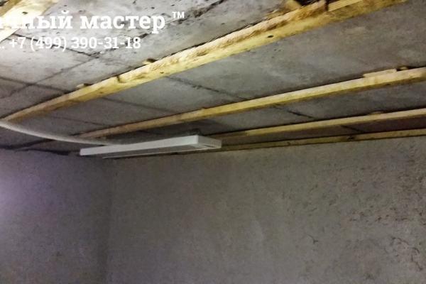 Делаем деревянный каркас для потолочных панелей
