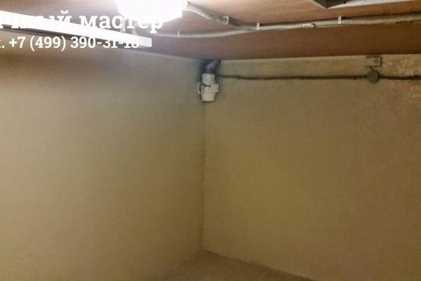Готовый потолок с восстановленными коммуникациями