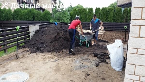 Растаскивание плодородной земли для планировки участка