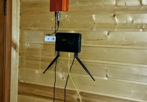 Роутер Zyxel с GSM модемом и репитером