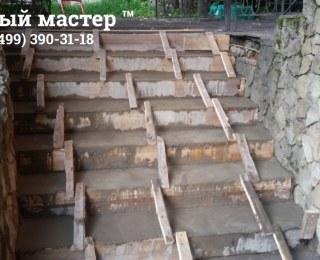 Подлитая бетонная лестница