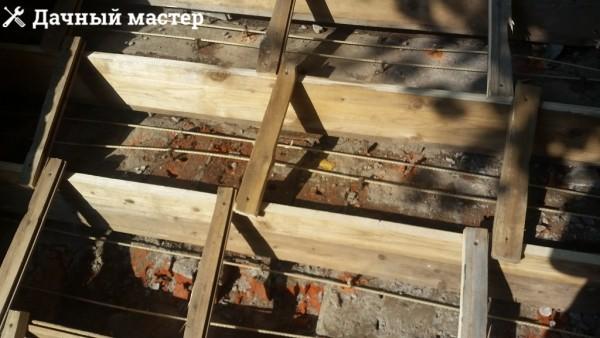 Опалубка с уложенным армированием
