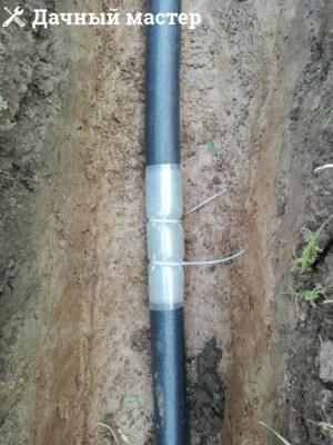 Укладка дренажной трубы в термоизоляции и с греющим кабелем