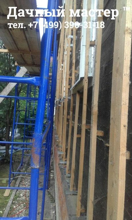 Деревянная подсистема для монтажа сайдинга