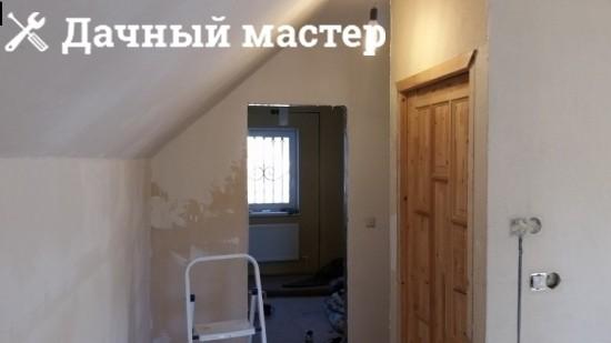 Шпатлевка, покраска стен