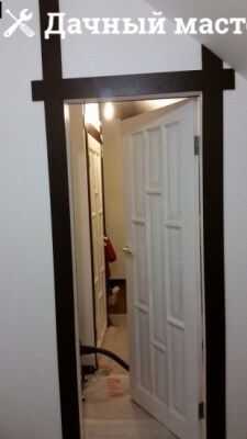 Монтаж межкомнатных дверей и их обналичка