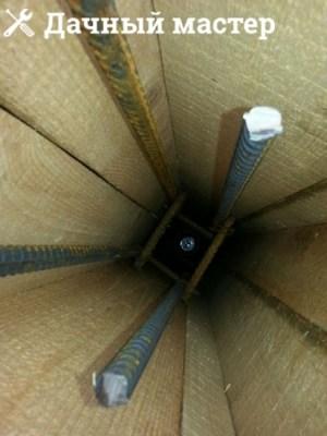 Армирующие стержни внутри опалубки