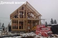 Возведение каркаса деревянного дома