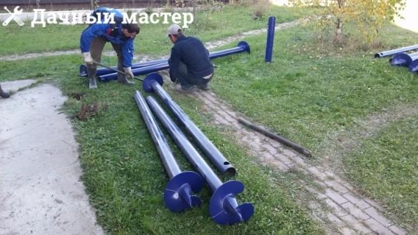 Винтовые сваи диаметром 108 мм