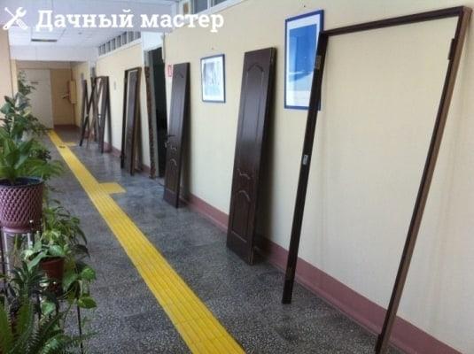 Заготовки дверного полотна в местах установки