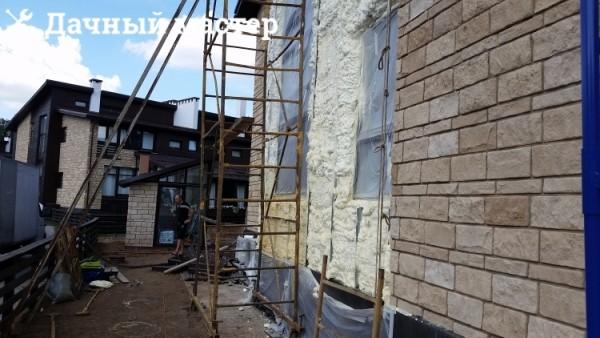Утепление фасада напыляемым пенополиуретаном