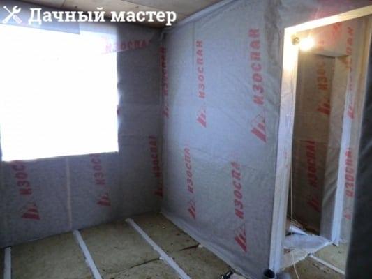 Обшивка утепленных стен пароизоляцией