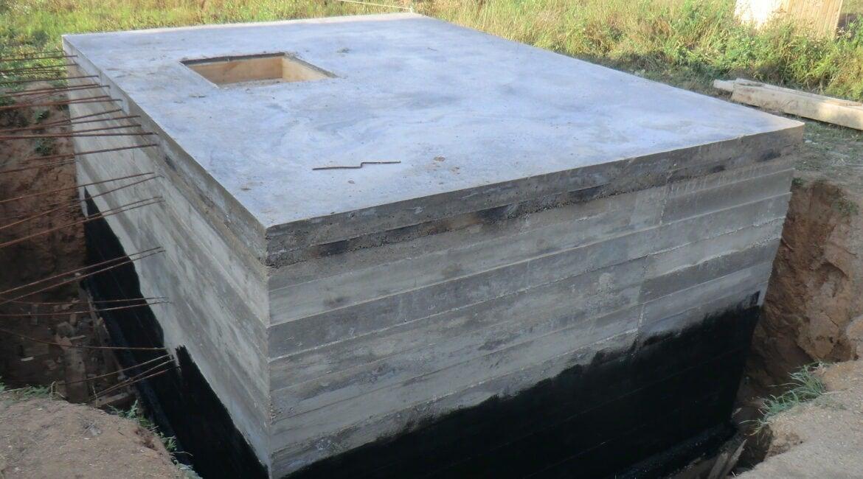 Строительство подземного бетонного подвала погреба