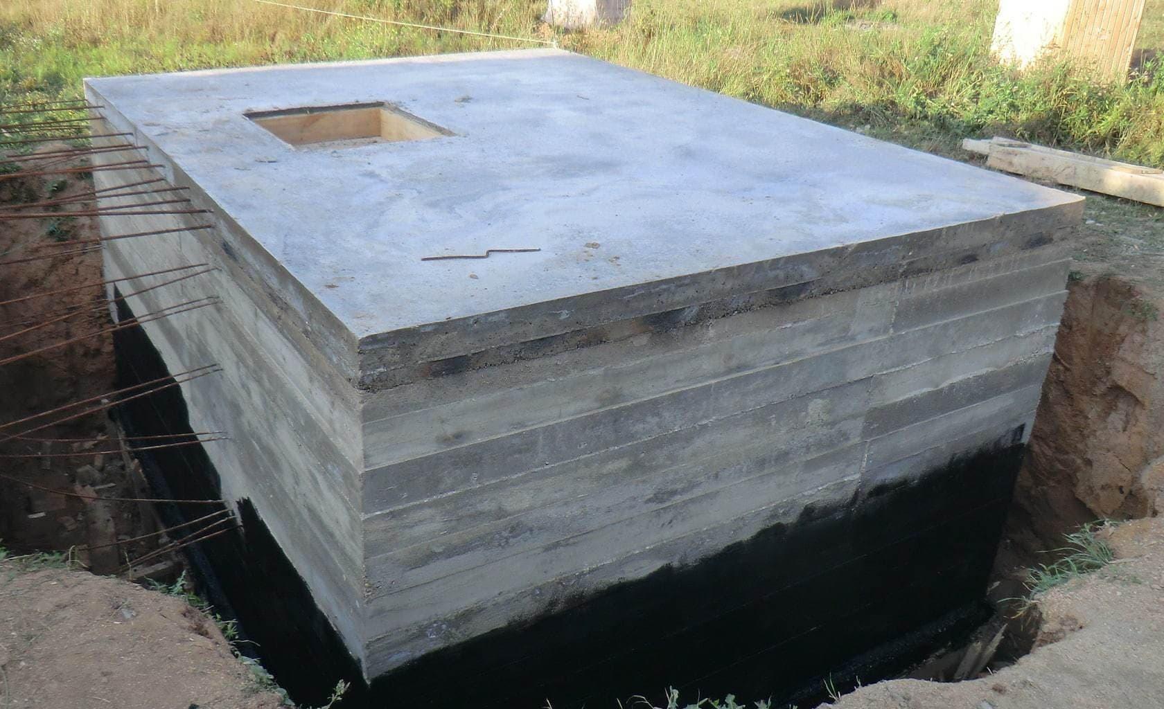 Строительство подземного бетонного подвала (погреба)