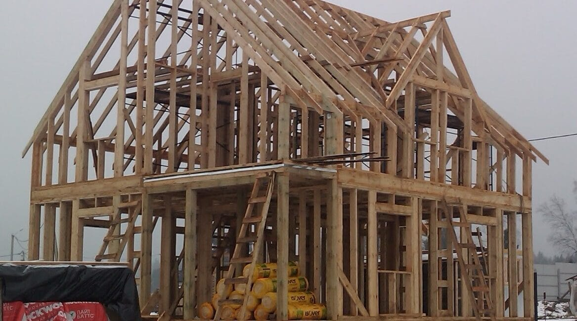 Деревянный каркасный дом. Конструкция каркаса.