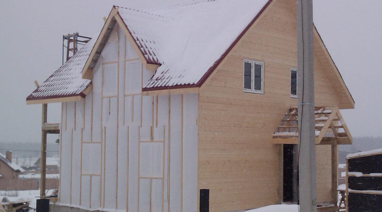 Отделка деревянного каркаса имитацией бруса