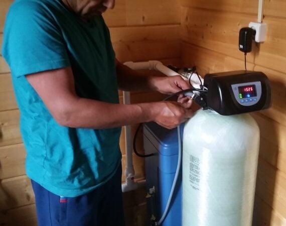Монтаж, подключение, настройка станции очистки воды