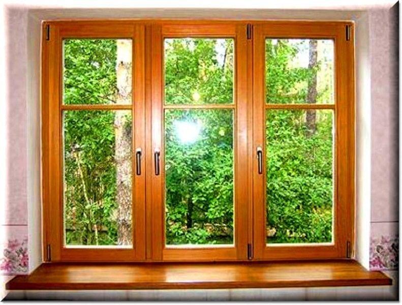 Деревянные окна в дачном доме