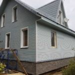 Finishing of suburban house by the siding. Part 2.