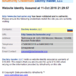 Свидетельство о получении SSL сертификата