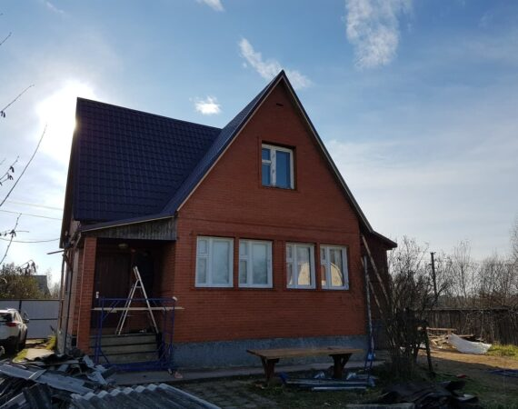 Кровля дома после ремонта