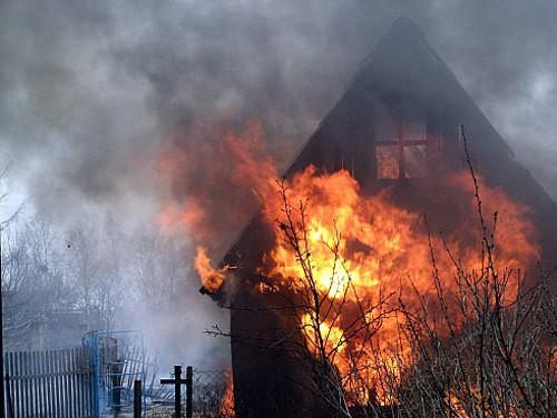 Пожары дач в Новосибирске