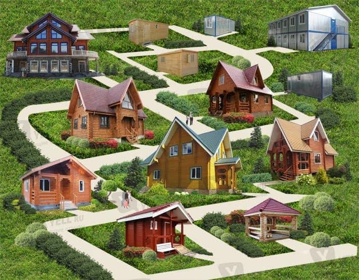 Типы дачных домов