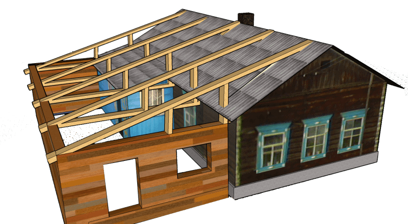 веранда дом пристройка
