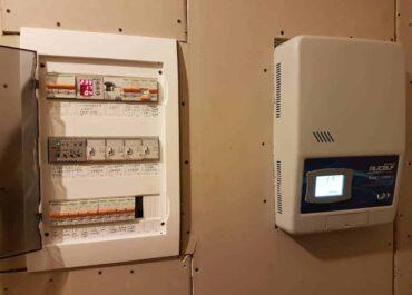 Энергоснабжение дачного дома. Монтаж защиты сети и генератора.