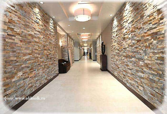 Декоративный камень для жилых помещений домов