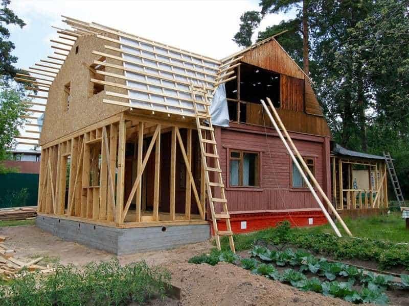 достройка дачных домов