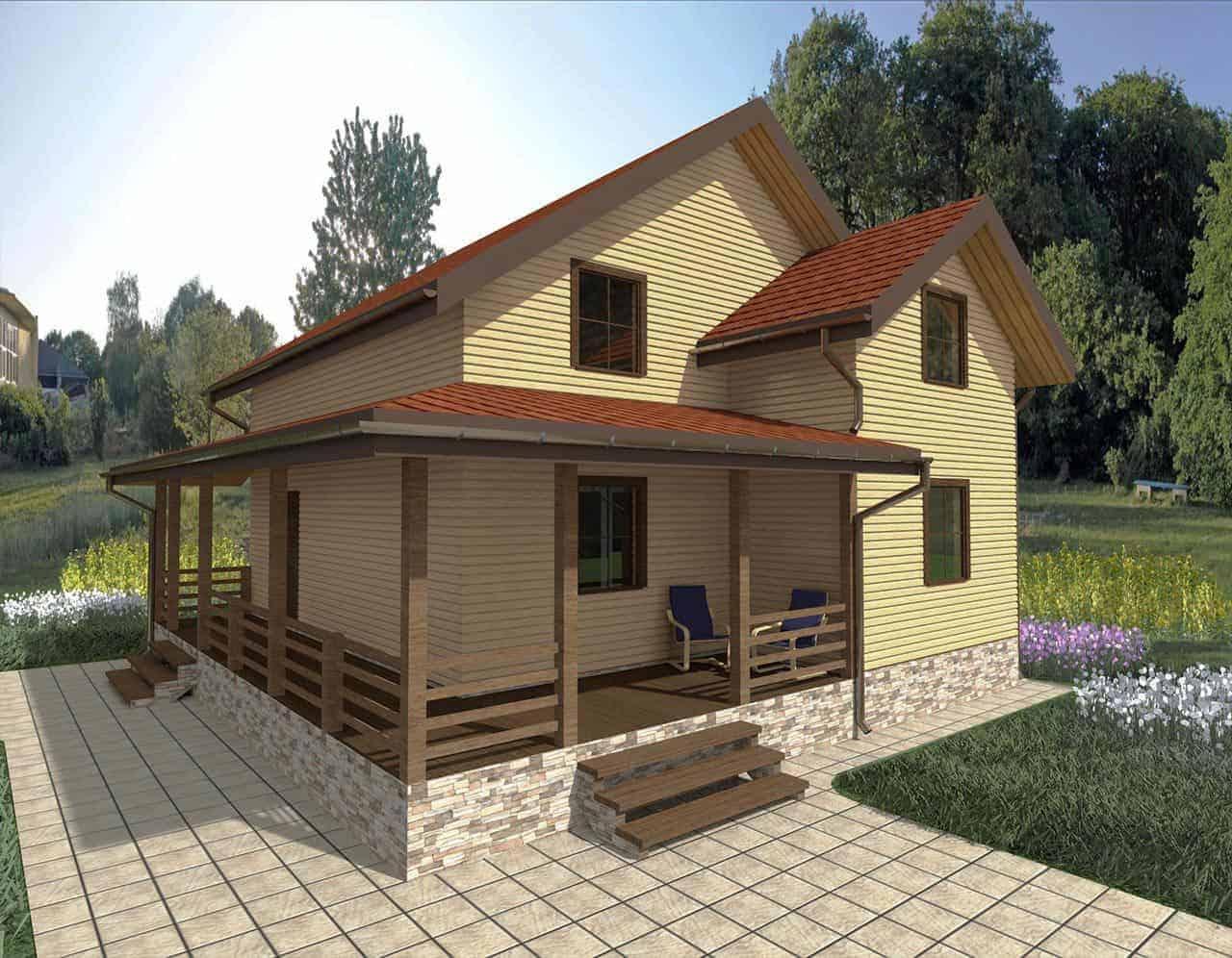 Materials for exterior trim frame house