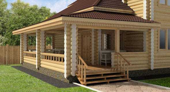 The construction of an extension to the dacha house