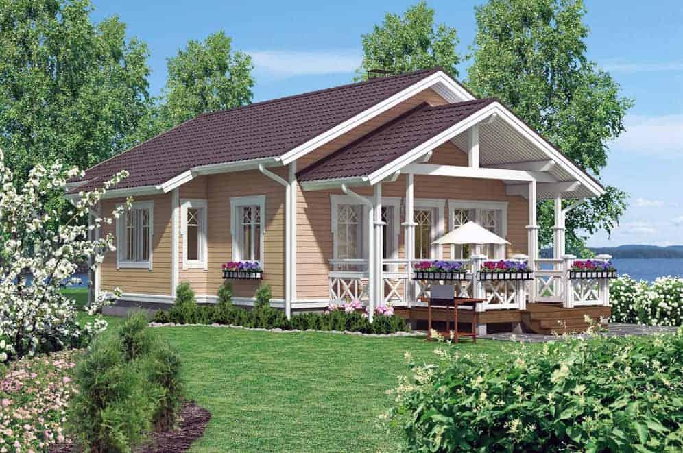 Frame home for permanent residence: advantages, trim