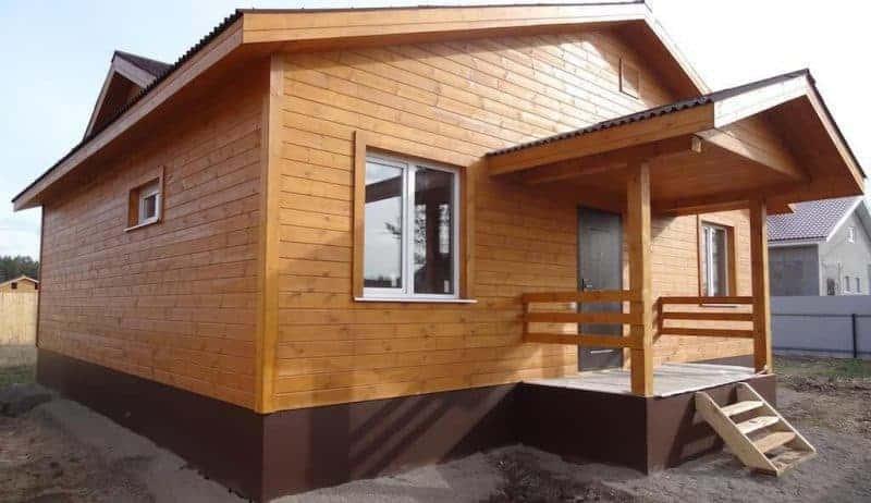 отделка каркасного дома имитацией бруса